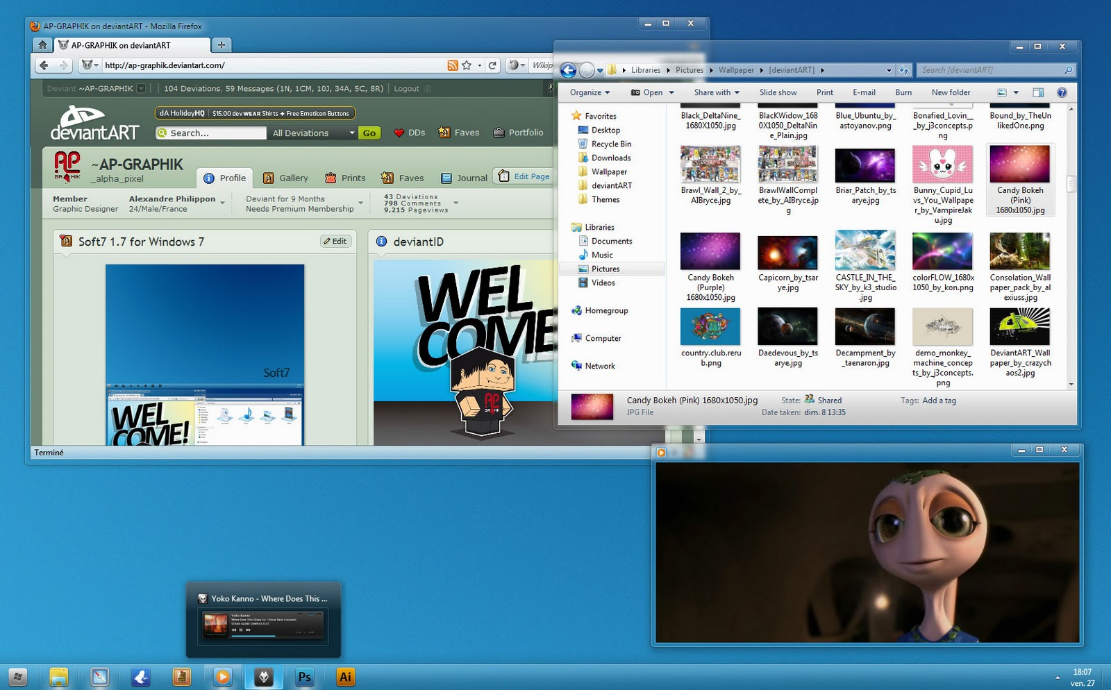 Soft7 1 8 theme for windows 7 windows 7 themes for Window 07 themes