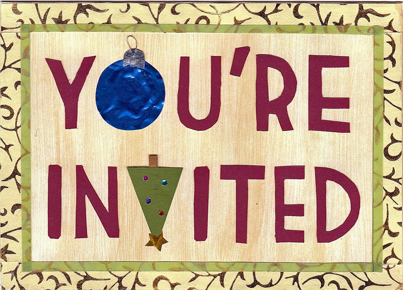 Christmas Potluck Invitation | Hey, it's Rochelle!
