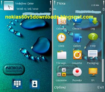 wallpaper for nokia x6. Download Nokia Footprint theme