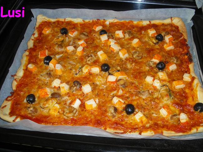 En la cocina con lusi pizza marinera - Pizza mycook ...