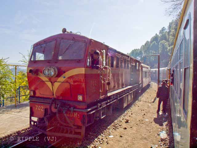 Posted by Ripple (VJ) on PHOTO JOURNEY @ www.travellingcamera.com : Different Types of Toy-Trains from Kalka to Shimla: I was too late for reservation when I planned to come back to Kalka by Toy-Train. There are different types of Toy-Trains between Shimla and Kalka but its very important to get the reservation in advance...:Finally I reached Railway station and there are 130 waitings for Himalyan Queen and they asked me to get a normal ticket for 33 Rs for passenger train. YES : Ticket for 33 Rs for Kalka from Shimla. I asked for getting a reserved seat and he directed me to Room-14 to get seat reservation in Chair-Car in Passenger... Gentleman asked me to get seat in another Chair-car where one can grab a seat with 33 Rs ticket.. First Come First Serve System... I liked it (Difference between Delhi and Himachal ): ripple, Vijay Kumar Sharma, ripple4photography, Frozen Moments, photographs, Photography, ripple (VJ), VJ, Ripple (VJ) Photography, Capture Present for Future, Freeze Present for Future, ripple (VJ) Photographs , VJ Photographs, Ripple (VJ) Photography : Himalyan queen is one of the nice trains on the narrow gauge track...FIARS:Chair Car: 139 Rs Ordinary: 33 Rs Kalka Simla Toy Train has about 7 coaches that can accommodate least 180 passengers in a single trip....