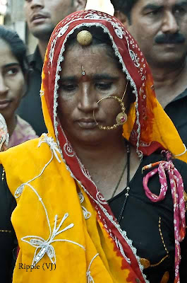 Posted by Ripple (VJ) : Padharo Mhare Desh : Rajasthan, INDIA : A huge nose ring - normally a sign of a married woman