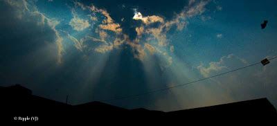 Posted by Ripple (VJ) : Light beams through clouds @ Surajgarh, Rajasthan, INDIA