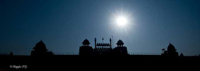 Posted by Ripple (VJ) : A Sunny Day at Red Fort... : ripple, Vijay Kumar Sharma, ripple4photography, Frozen Moments, photographs, Photography, ripple (VJ), VJ, Ripple (VJ) Photography, Capture Present for Future, Freeze Present for Future, ripple (VJ) Photographs , VJ Photographs, Ripple (VJ) Photography : Like a diamond in the sky... Above Red Fort...