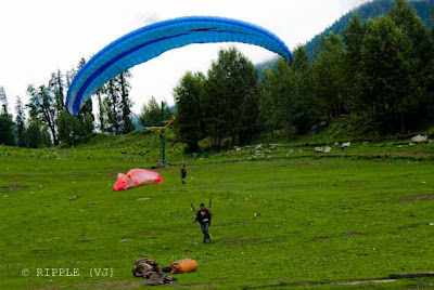 Solang valley is in Himachal Pradesh, India and is known for its summer and winter sports. The sports most commonly offered are parachuting, paragliding, skating and zorbing. Giant slopes of lawn comprise Solang Valley and provide it its reputation as a popular ski resort. A few ski agencies offering courses and equipment reside here and operate only during winters.Snow melts during the summer months and skiing is then replaced by zorbing (a giant ball with room for 2 people which is rolled down a 200 meter hill), paragliding, parachuting and horse riding. 13 kms. is a splendid valley between Solang village and Beas Kund. Solang valley offers the view of glaciers and snow capped mountains and peaks. It has fine ski slopes. The Mountaineering Institute has installed a ski lift for training purpose. Located here is a hut and guest house of the Mountaineering and Allied sports Institute, Manali. Now a few hotels have also come up. The winter skiing festival is organised here. Training in skiing is imparted at this place. Posted by Ripple (VJ) : ripple, Vijay Kumar Sharma, ripple4photography, Frozen Moments, photographs, Photography, ripple (VJ), VJ, Ripple (VJ) Photography, Capture Present for Future, Freeze Present for Future, ripple (VJ) Photographs , VJ Photographs, Ripple (VJ) Photography :