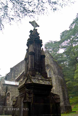 Posted by Ripple (VJ) : The Gothic stone building of the Church was constructed in 1852. The site also has a memorial of the British Viceroy Lord Elgin, and an old graveyard. The church building is also noted for its Belgian stained-glass windows donated by Lady Elgin.: Mcleoganj, Mcloedgaj, Dharmshala, Himachal Pradesh, Saint John Chruch, India, British times, ripple, Vijay Kumar Sharma, ripple4photography, Frozen Moments, photographs, Photography, ripple (VJ), VJ, Ripple (VJ) Photography, Capture Present for Future, Freeze Present for Future, ripple (VJ) Photographs , VJ Photographs, Ripple (VJ) Photography : St. John's Church @ Mcleodganj, Himachal Pradesh.