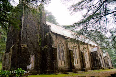 Posted by Ripple (VJ) : The Gothic stone building of the Church was constructed in 1852. The site also has a memorial of the British Viceroy Lord Elgin, and an old graveyard. The church building is also noted for its Belgian stained-glass windows donated by Lady Elgin.: Mcleoganj, Mcloedgaj, Dharmshala, Himachal Pradesh, Saint John Chruch, India, British times, ripple, Vijay Kumar Sharma, ripple4photography, Frozen Moments, photographs, Photography, ripple (VJ), VJ, Ripple (VJ) Photography, Capture Present for Future, Freeze Present for Future, ripple (VJ) Photographs , VJ Photographs, Ripple (VJ) Photography : Side view of St. John's Church @ Mcleodganj, Himachal Pradesh.