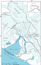 Hubbard Glacier - USCG Map