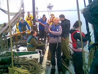 Elever på redningsskøyta Stavanger