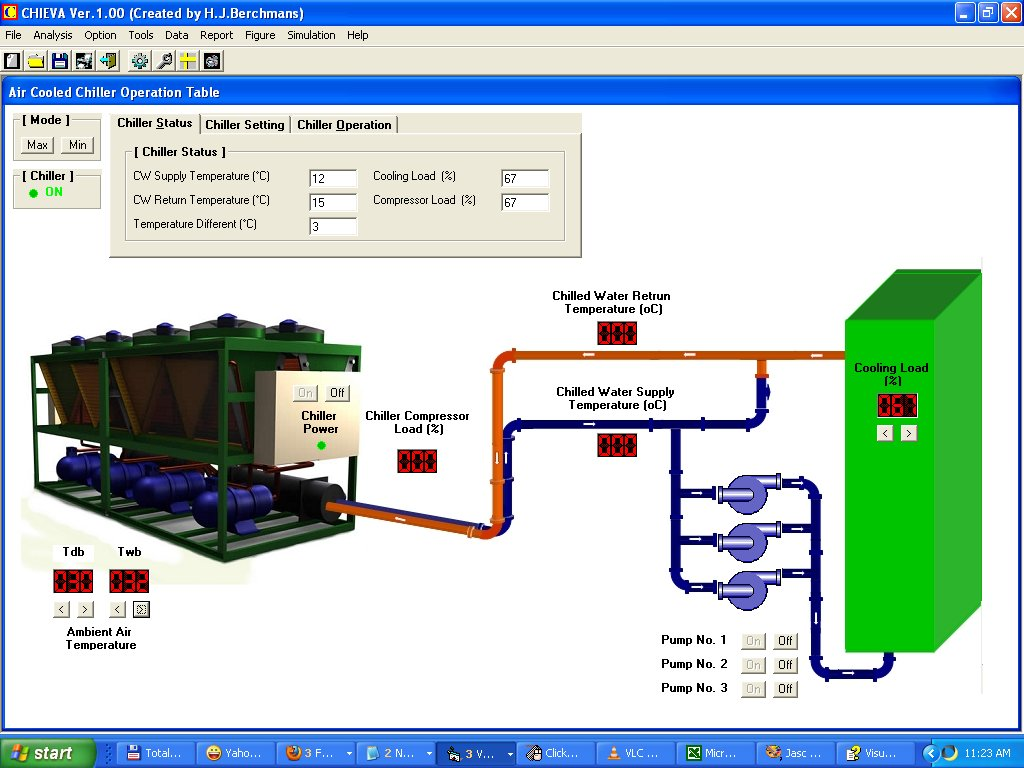 Air Cooled Chiller performance analysis and simulator in CHiEVA 2.0  #0348C8