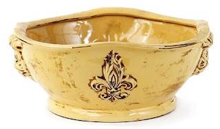 Fleur de Lis Centerpiece Bowl