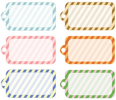 Blank Simple Stripes Printable Gift Tags