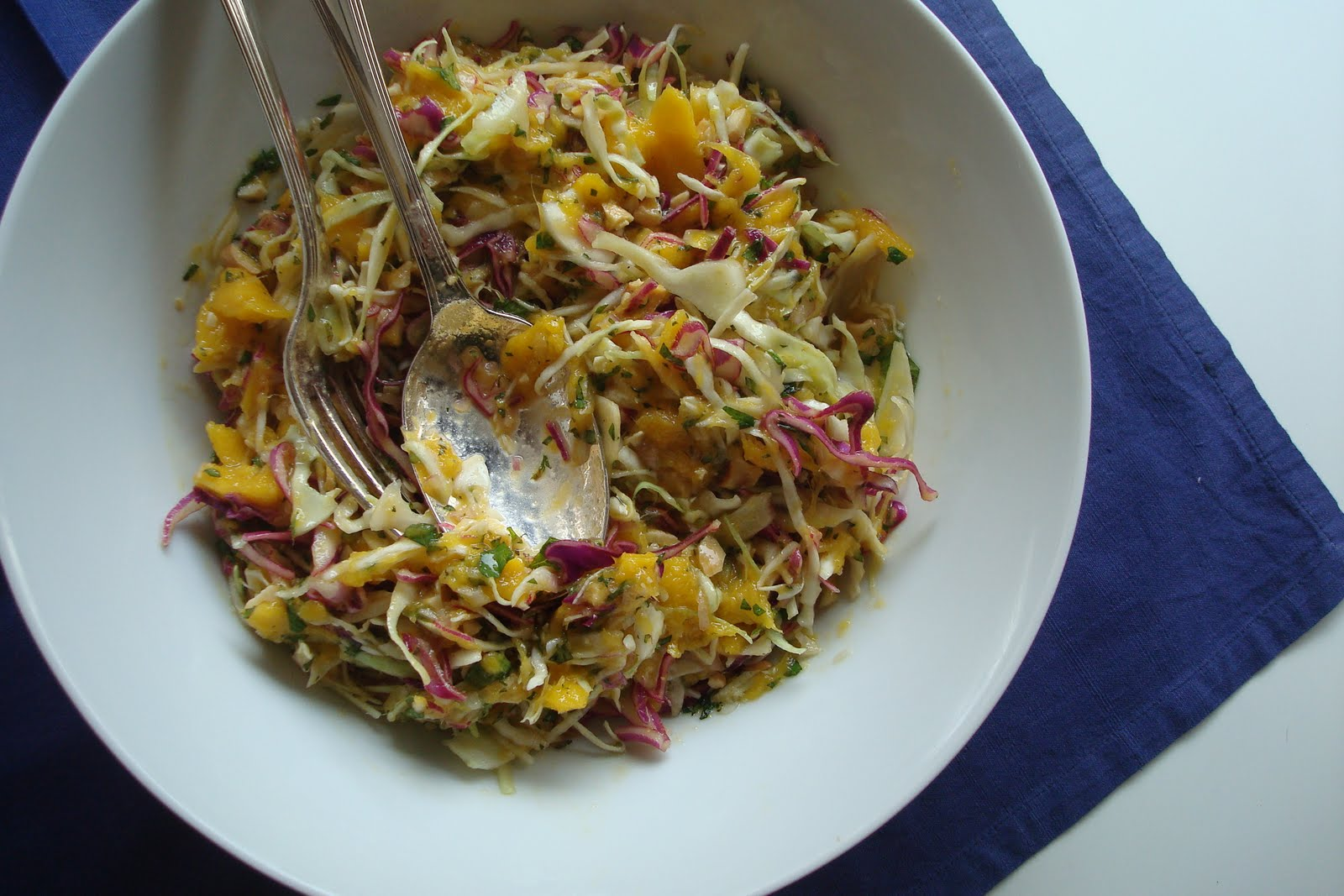 Mango Slaw With Cashews And Mint Recipe — Dishmaps