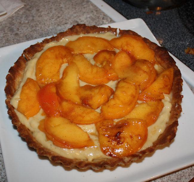 Find the Time: Peach Cream Tart