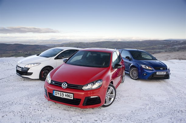 Golf R vs Focus RS vs Megane 250