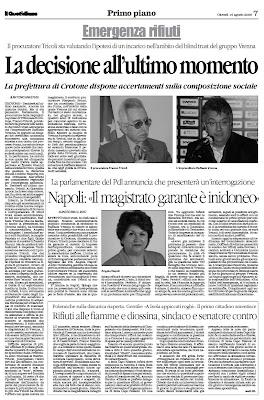 Il Blog Di Angela Napoli Larticolo Del Quotidiano Della Calabria