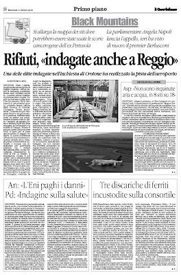 Il Blog Di Angela Napoli Le Scorie Della Pertusola Di Crotone Anche