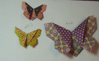 For This Tutorial Im Using A Piece Of Origami Paper 4 X 6 And It Makes Butterfly About 3 I Made One Bigger So You Could Hopefully See
