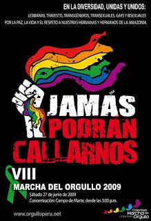 Afiche 8ª Marcha del Orgullo GLBT - Lima