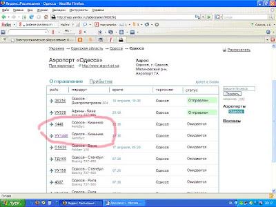Расписание поездов самолетов Одесса