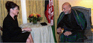 Sarah Palin and Hamid Karzai