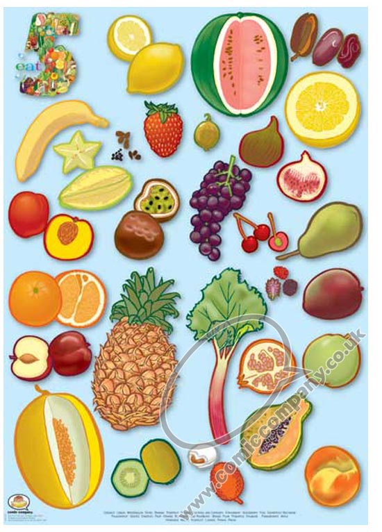Kids Under 7: Fruits & Vegetables Pictures for Classroom