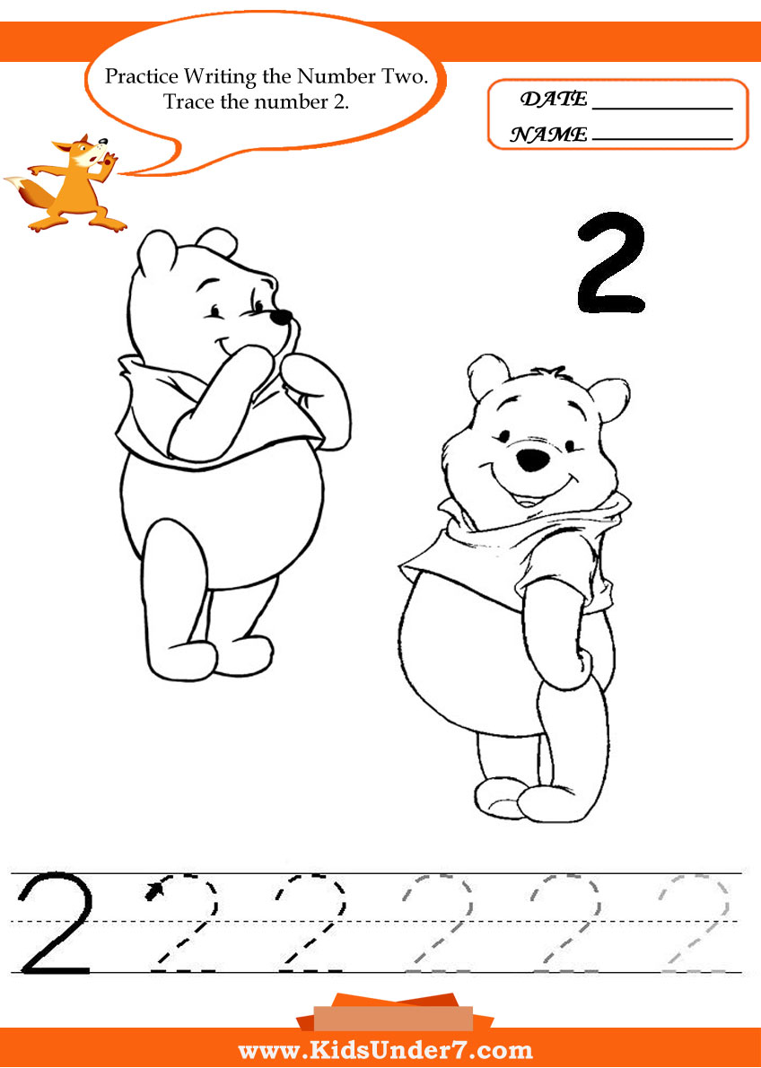 Worksheets Number 2 Worksheet For Kindergarten kids under 7 writing numbers worksheets printable for preschool and kindergarten