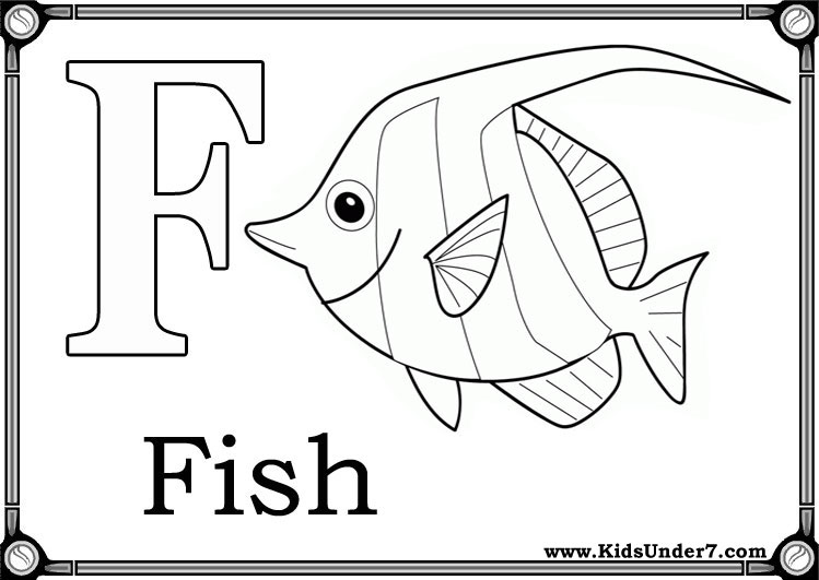 Letter F Coloring Pictures : Kids under 7: alphabet