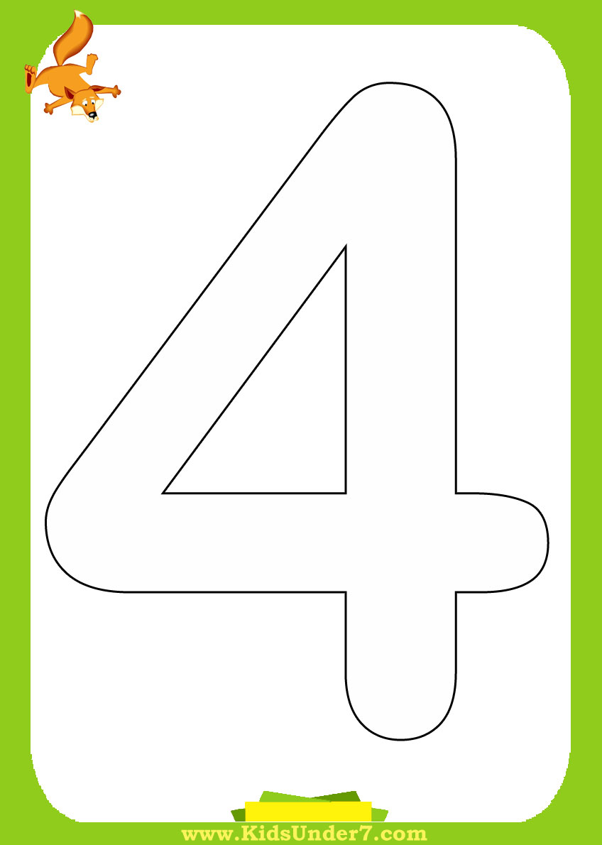 Preschool Numbers And Counting Coloring Pages | Kiboomu