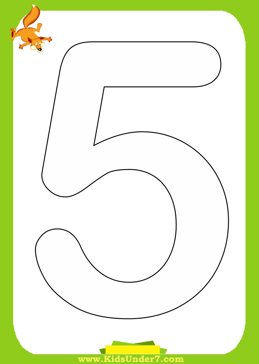 Number Coloring Pages 1 10