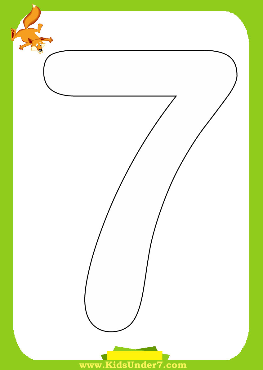 free coloring pages of number 7