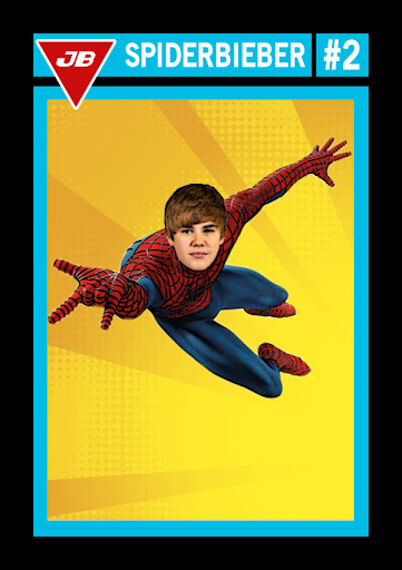 Justin Bieber Superhero Trading Cards