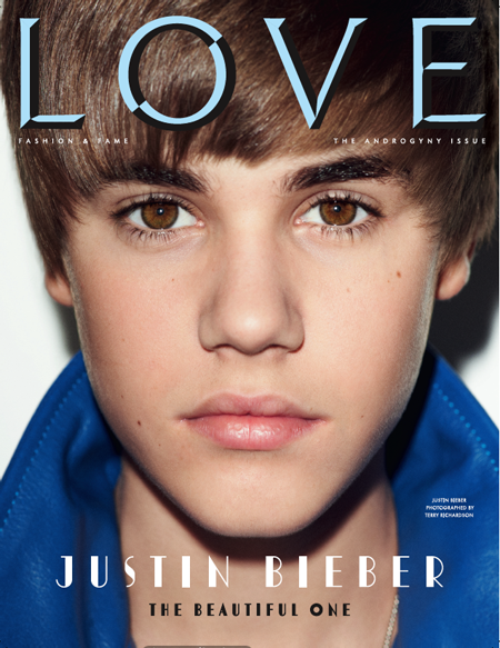 Justin Bieber LOVE Magazine Cover 2011
