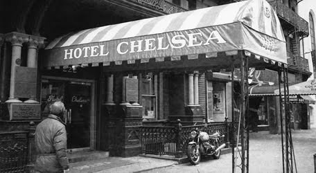 at the Chelsea Hotel ...