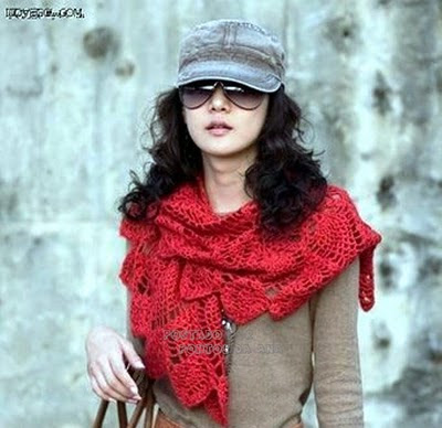 pineable scarf, free crochet pattern