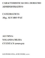 DESCARGAR presentacion en WORD de Yolanda Mejia: Caracteristicas del Derecho Administrativo