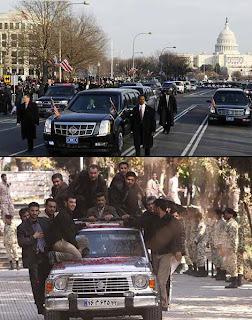 تفاوت اسکورت احمدینژاد با اوباما