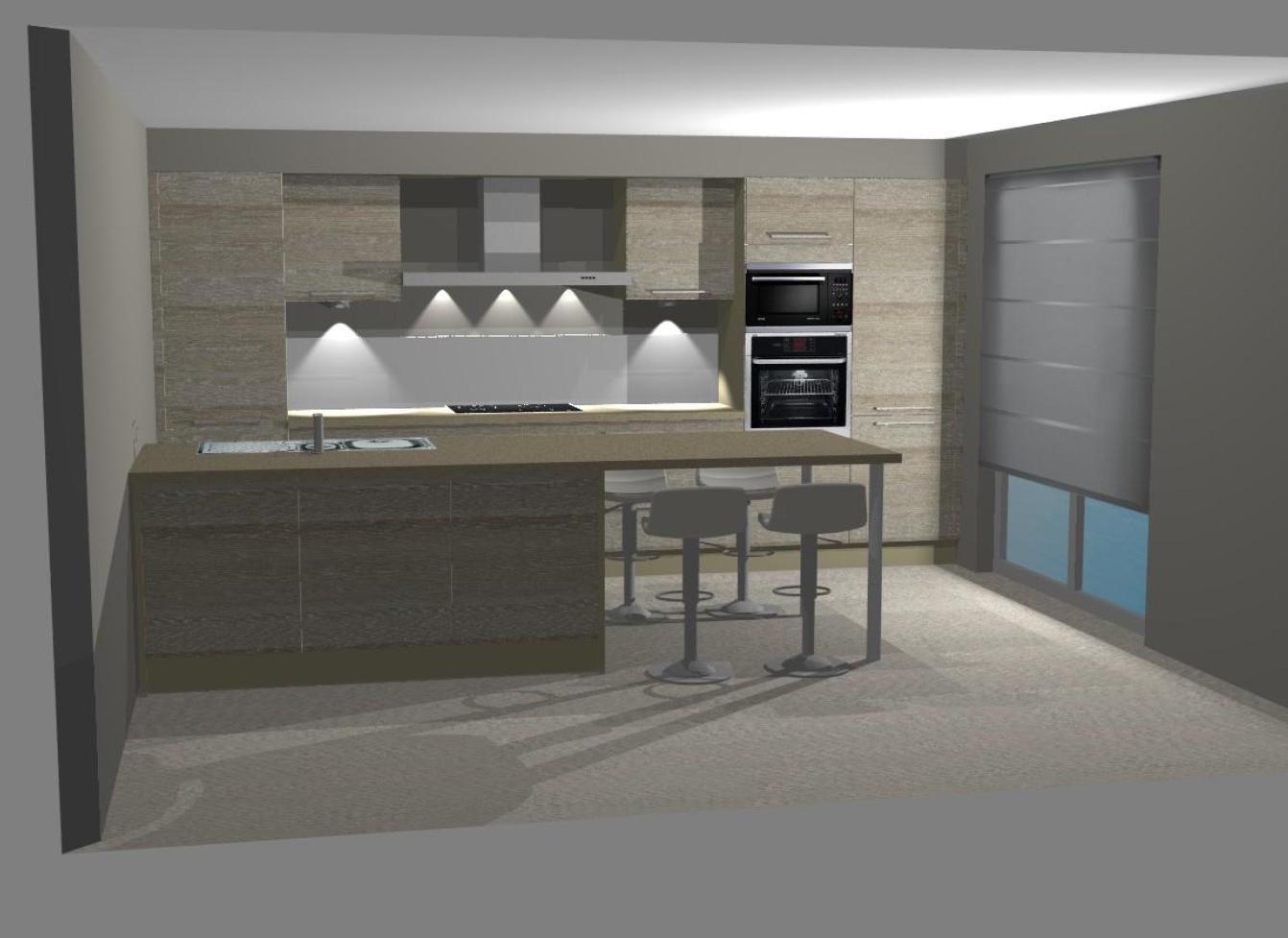 Bouw huis bart en veroniek keuken - Keuken rode en grijze muur ...