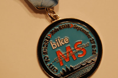 Medal awarded to participants in the MS150.