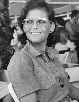 ray ban aviator eyeglass frames  vintage eyeglasses · claudia cardinale wearing her vintage aviator ray ban