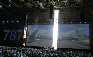 Boeing 787 Dreamline premiere ceremonial event image 1
