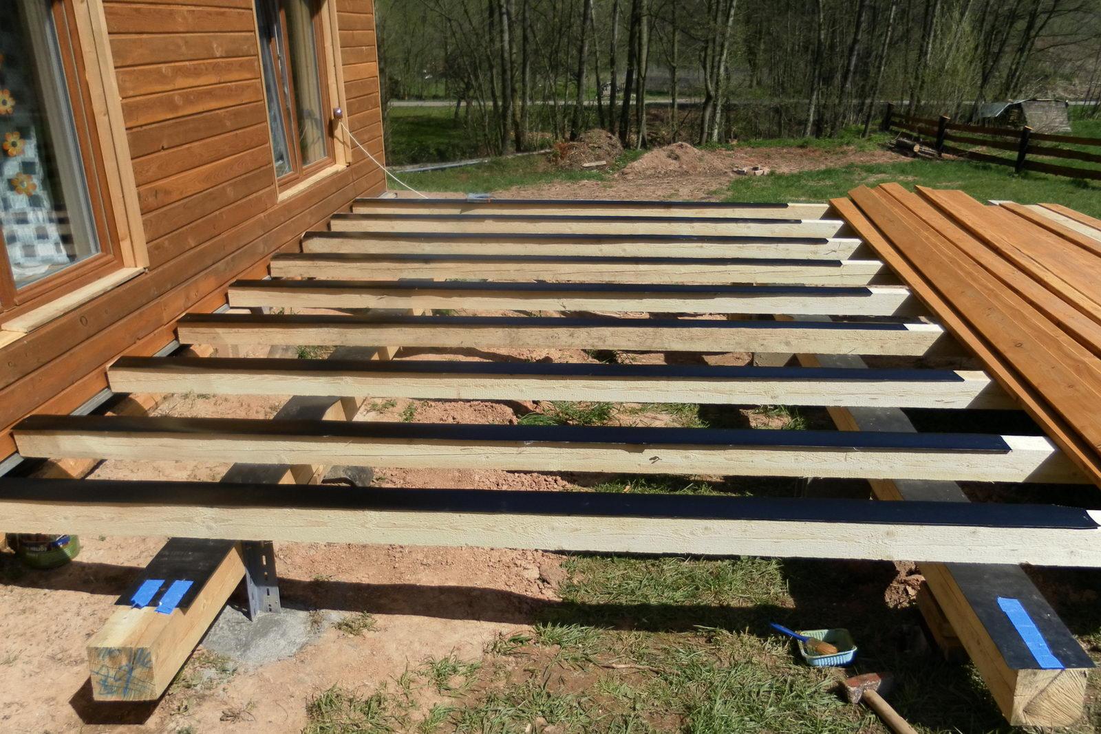 Dřevěná terasa konstrukce