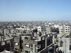 Gaza vista dall'Ospedale Al Awda di Jabalya