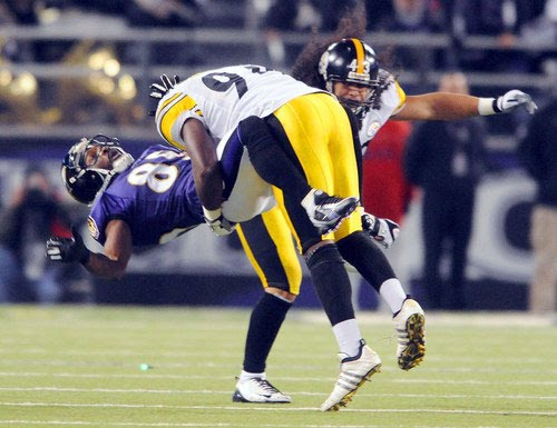 476097eac Lawrence Timmons tackles Derrick Mason in Steelers  13-9 win on December  14