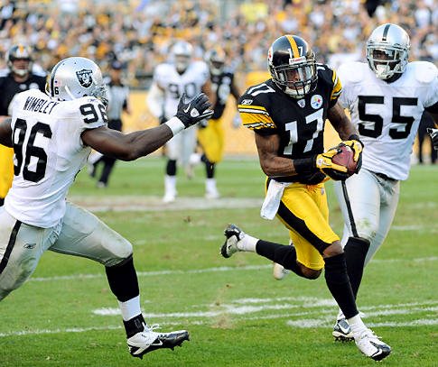 black and gold mike wallace the steelers speedy wide