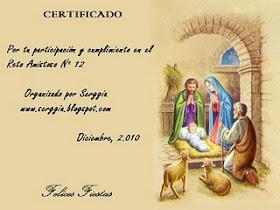 Certificado reto nº 12 organizado por Serggia