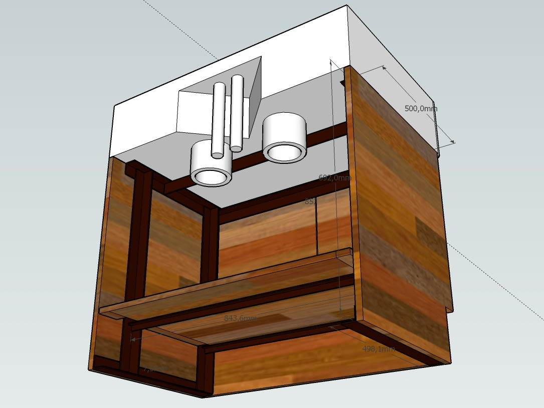 florent fazilleau work in progress meuble pour evier sous sketchup. Black Bedroom Furniture Sets. Home Design Ideas