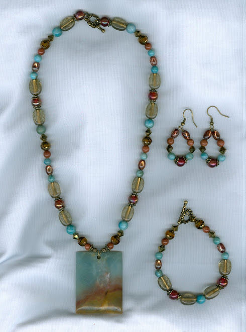 Brown and Blue Amazonite