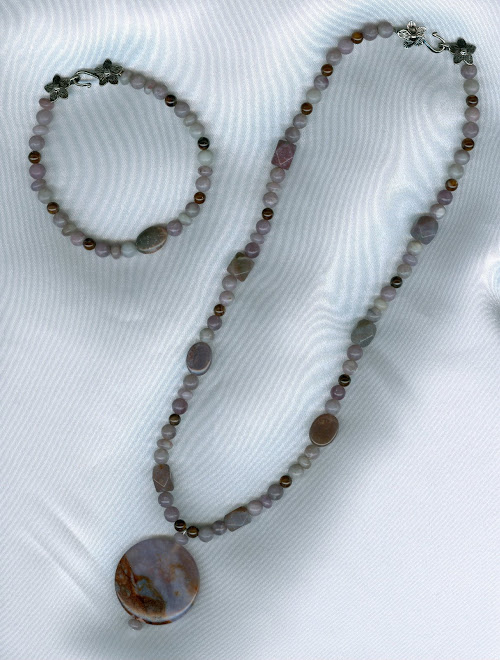 Lilac & Brown Agate