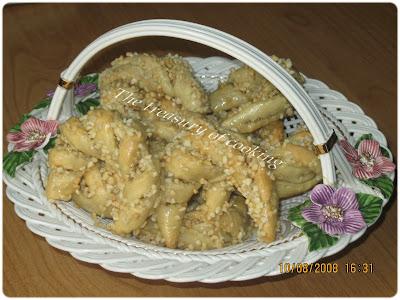 gâteaux algériens Tcherek+maasel
